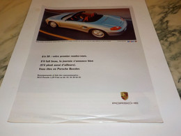 ANCIENNE PUBLICITE PREMIER RENDEZ VOUS  VOITURE PORSCHE 1997 - Cars