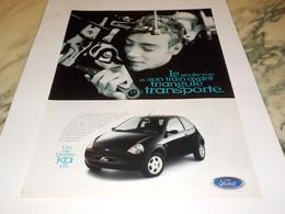 PUBLICITE ON NE PENSE KA CA DE FORD  1997 - Cars