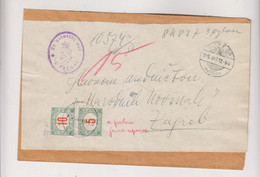 CROATIA HUNGARY 1916 POZEGA Nice Cover To Zagreb ,postage Due - Croatia