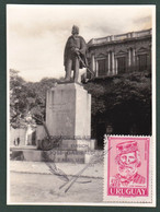 1970 Uruguay Maxi-card Real FHOTO Giuseppe Garibaldi Statue- Yv A359 - Uruguay