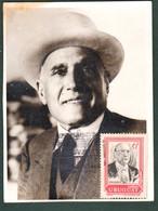 1969 URUGUAY Maxi Card Photo Tomás Berreta President Presidente Partido Colorado - Uruguay