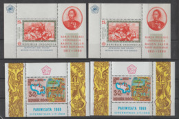 INDONESIA   1967+69   **   MNH   YVERT   BLOQUE- 8 +14 VALOR    32  €   X4 - Indonesia