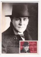 1971 URUGUAY Maxi Card Real Photo- Eduardo Fabini Compositeur Compositor Musica Music Musique Musik-national Anthem - Uruguay