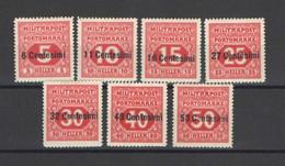 OCCUPAZIONE AUSTRIACA 1918 SEGNATASSE SERIE CPL.* GOMMA ORIGINALE - Austrian Occupation