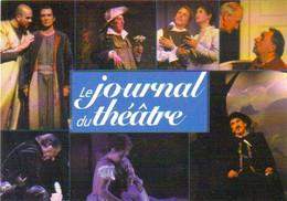 """Carte Postale """"Cart'Com"""" (1997) Le Journal Du Théâtre (Samy Frey, Georges Wilson, Philippe Noiret, Michel Bouquet,...) - Advertising"""