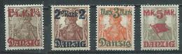 Dantzig YT N°39-40-41-42 Germania Surchargé Neuf/charnière * - Danzig
