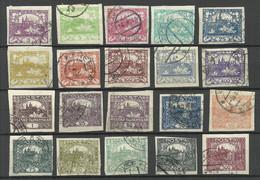 TSCHECHOSLOWAKEI Czechoslovakia 1918 - 1919 Lot Freimarken: Hradschin O - Used Stamps