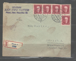 CZECHOSLOVAKIA 1930's POSTAL HISTORY COVERS 3 COVERS & 1 P. Card - Covers & Documents