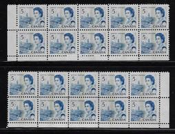 CANADA 1967-1973 SCOTT 458pi CB LL +LR MNH CBNC - Unused Stamps