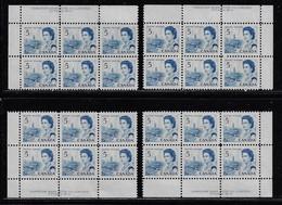 CANADA 1967-1973 SCOTT 458 Plate 6 4 CB  MNH CBNC - Unused Stamps