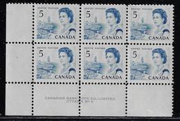CANADA 1967-1973 SCOTT 458 Plate 5  PB  LOWER LEFT MNH CBNC - Unused Stamps