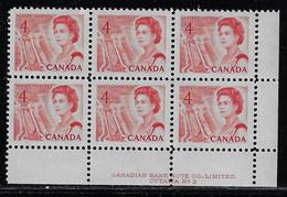 CANADA 1967-1973 SCOTT 457 Plate 3  PB  LOWER RIGHT MNH CBNC OTTAWA - Unused Stamps