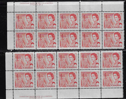 CANADA 1967-1973 SCOTT 457 Plate 3  2 PB LEFT MNH CBNC OTTAWA - Unused Stamps