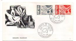 1965--  CEPT......type Europa......2 Valeurs.....cachet  Conseil De L'Europe - Gedenkstempels