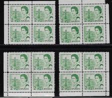 CANADA 1967-1973 SCOTT 455 4CB CBNC - Unused Stamps
