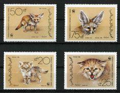 Yemen 1989 MiNr. 450 - 453 Südjemen (Volksrepublik) ANIMALS Sand Cat Fennec Fox WWF 4v MNH** 10,00 € - Yemen