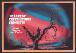 CPM LARZAC Tirage Signé 30 Exemplaires Numérotés Signés Par JIHEL Aveyron - Millau