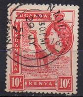 KENYA-OUGANDA N° 91 O Y&T 1938 Elisabeth II Et Girafe - Kenya, Uganda & Tanganyika
