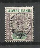 LEEWARD ISLANDS 1897 Michel 9 O - Leeward  Islands