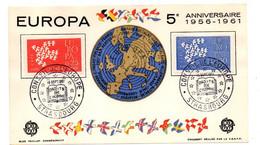 1961 -- Exposition Philatélique  EUROPA ....2 Valeurs.....cachet   STRASBOURG - 67 - Gedenkstempels