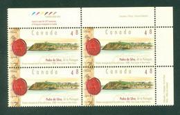 Immigration. PEDRO Da SILVA + Portugal; Timbres Scott # 1988 Stamps; Bloc De Coin / Corner Block (6807) - Unused Stamps