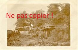 CARTE PHOTO ALLEMANDE - ABRI AMENAGE A ROMAGNE ( SOUS LES COTES ) PRES DE MANGIENNES MEUSE - GUERRE 1914 1918 - Oorlog 1914-18