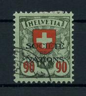 1924, Schweiz Völkerbund SDN, 22 X, Cto - Dienstpost