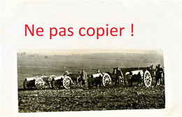 CARTE PHOTO ALLEMANDE - CANONS - OBUSIER DE 96 EN BATTERIE - A LOCALISER - GUERRE 1914 1918 - Oorlog 1914-18