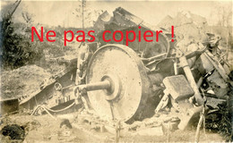 CARTE PHOTO ALLEMANDE - ARTILLERIE LOURDE DETRUITE - A LOCALISER - GUERRE 1914 1918 - Oorlog 1914-18