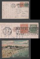1930 SURF BATHING ENGLISH BAY Postcard Canada VANCOUVER To Japan - Covers & Documents