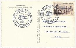 """FRANCE - CPM Tramway à Traction Animale (1892) - Cachet """"Dernier Voyage Des Tramways - 3 Mars 1957"""" S/12F Valentré - Gedenkstempels"""