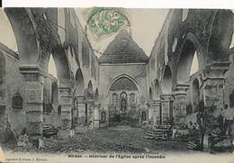 Hirson (02 Aisne) Intérieur De L'église Après L'incendie De 1906 - édit. Lebrun Typa Carte Photo - Hirson