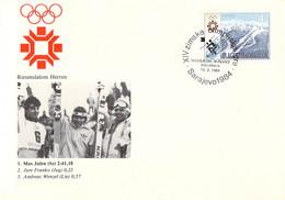 Yugoslavia Cover 1984 Sarajevo Olympic Games - Great Slalom: 1. M Julen (SUI), 2. J Franko (YUG), 3. A Wenzel (LICH) - Invierno 1984: Sarajevo
