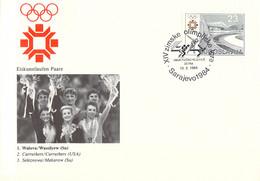 Yugoslavia Cover 1984 Sarajevo Olympic Games - Figure Skating: 1. Walova/Wassilyew (USSR), 2. Curruthers/Carruthers - Invierno 1984: Sarajevo