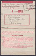 """USA - Formulaire V.Mail Daté 5 Juillet 1944 De """"Somewhere In Italy"""" D'un Sergent Américain Càd """"U.S. ARMY POSTAL SERVICE - Covers & Documents"""