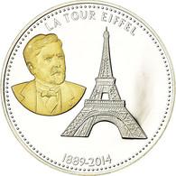 France, Médaille, Les Joyaux De Paris, La Tour Eiffel, FDC, Argent - Other