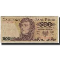 Billet, Pologne, 500 Zlotych, 1982, 1982-06-01, KM:145C, B - Pologne