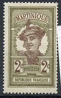 Martinique 1908-18 Y&Tn°62 - Michel N°57 Nsg - 2c Martiniquaise - Ungebraucht