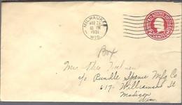 STATIONERY 1937  MILWAUKEE - 1921-40