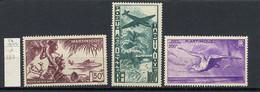 Martinique Poste Aérienne 1947 N°PA13 à 15 - Michel N°F256 à 258 * - Divers Sujets - Airmail