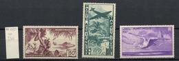 Martinique Poste Aérienne 1947 N°PA13 à 15 - Michel N°F256 à 258 *** - Divers Sujets - Airmail