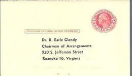 STATIONERY 1953   VIRGINIA - 1941-60