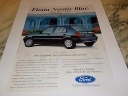 PUBLICITE NOUVELLE FIESTA NORDIC BLUE  DE FORD  1993 - Cars