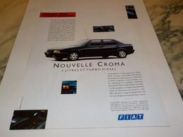 ANCIENNE PUBLICITE CROMA  DE FIAT 1995 - Cars