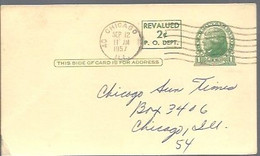 STATIONERY 1957  CHICAGO - 1941-60