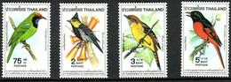 Thailand 1980 ☀ Fauna Fauna - Birds ☀ MNH (**) - Pájaros Cantores (Passeri)