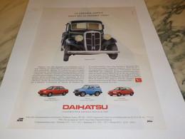 ANCIENNE PUBLICITE LE DERNIER ARRIVE LA DAIHASTSU  1992 - Cars