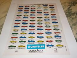 ANCIENNE  PUBLICITE NOTRE RESEAU DE  CHRYSLER  1992 - Cars