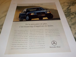 ANCIENNE PUBLICITE MERCEDES E 200 1992 - Cars