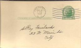 STATIONERY 1934  FREDONIA - 1921-40